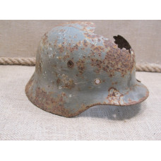 M 35 relic helmet devastating damaged winter camo traces