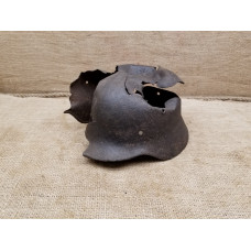 Devastating damaged relic German helmet