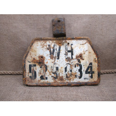 German WWII truck / halftrack license plate