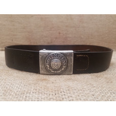 Wehrmacht leather belt with alu buckle W.L.D.