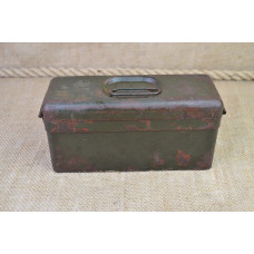 German WWII steel box for vehicle small parts