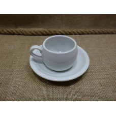 tea / coffee cup with small plate german WWII DAF KPM